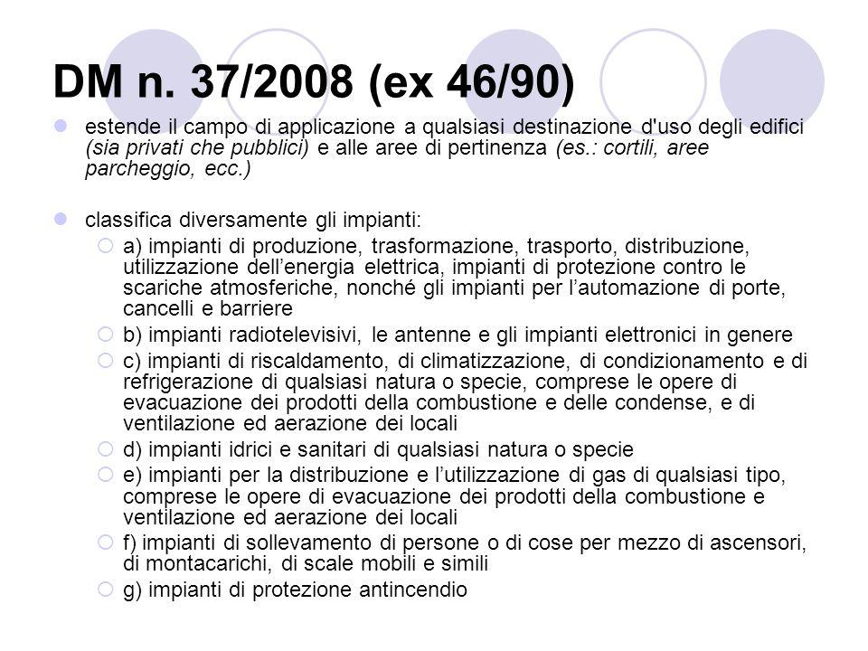 DM n. 37/2008 (ex 46/90)