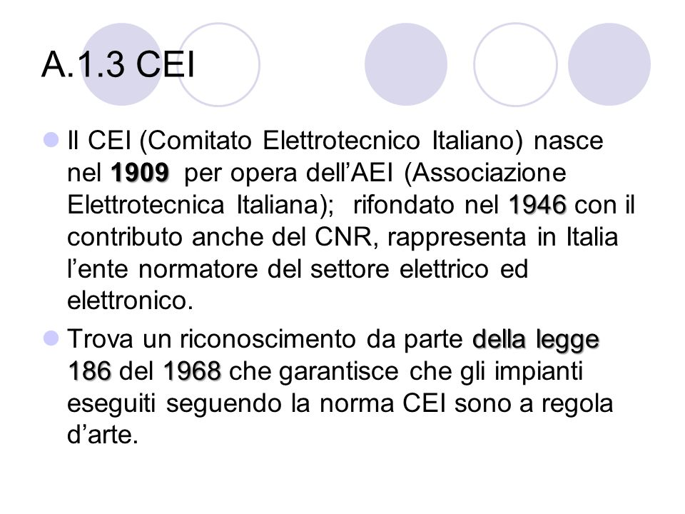 A.1.3 CEI