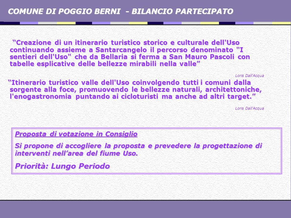 COMUNE DI POGGIO BERNI - BILANCIO PARTECIPATO