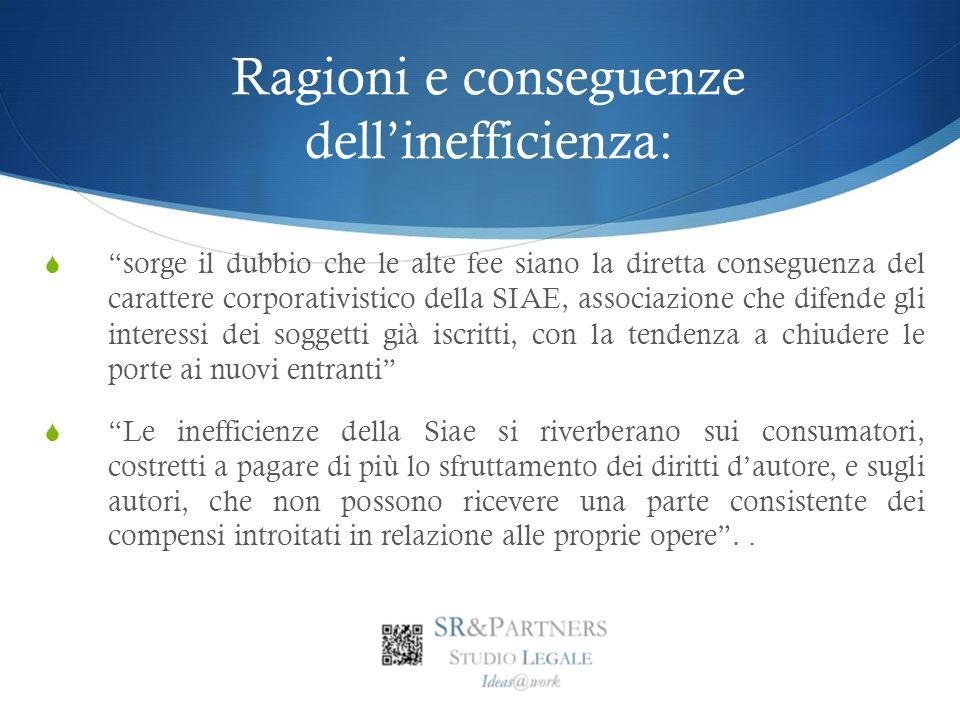 Ragioni e conseguenze dell'inefficienza: