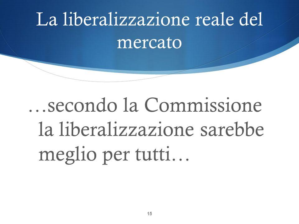 La liberalizzazione reale del mercato