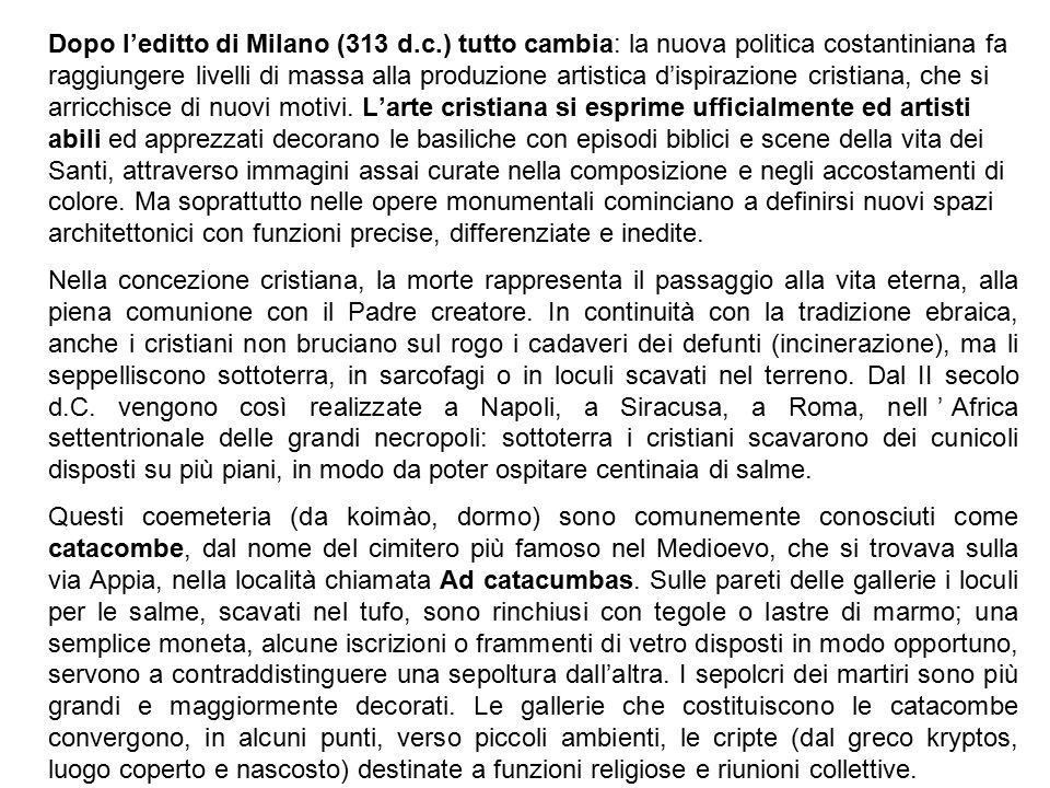 Dopo l'editto di Milano (313 d. c