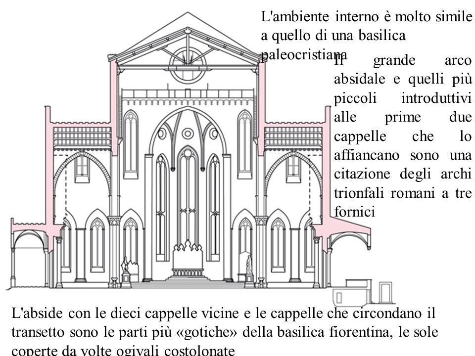 L ambiente interno è molto simile a quello di una basilica paleocristiana