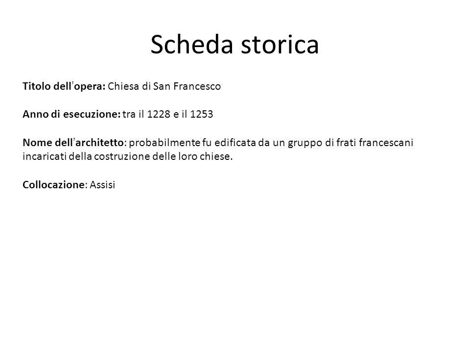 Scheda storica Titolo dell'opera: Chiesa di San Francesco
