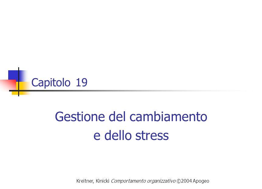 Gestione del cambiamento e dello stress