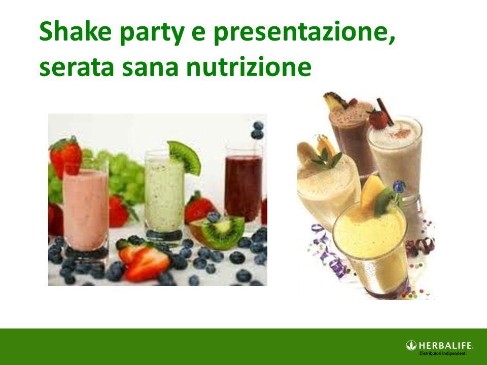 Shake party e presentazione,