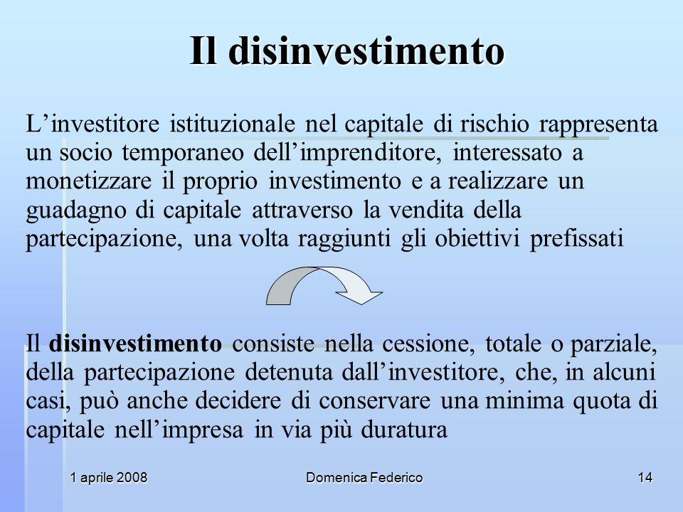 Il disinvestimento