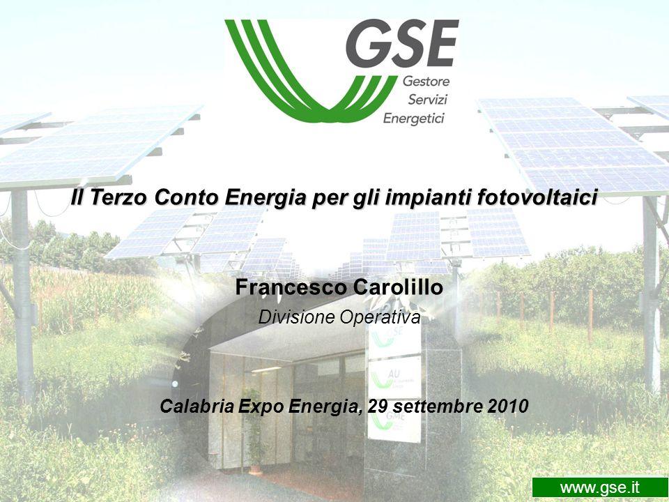 Il Terzo Conto Energia per gli impianti fotovoltaici