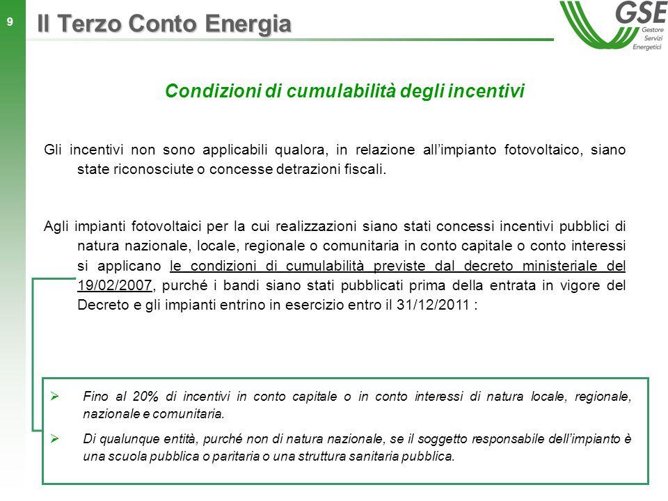 Condizioni di cumulabilità degli incentivi