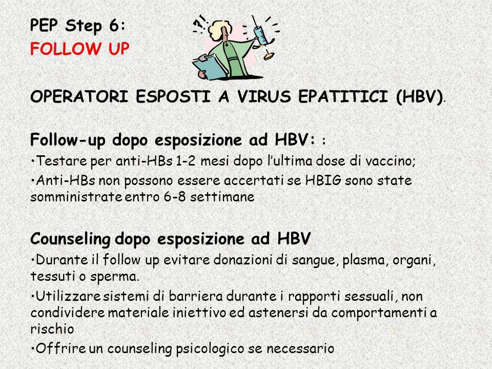 OPERATORI ESPOSTI A VIRUS EPATITICI (HBV).