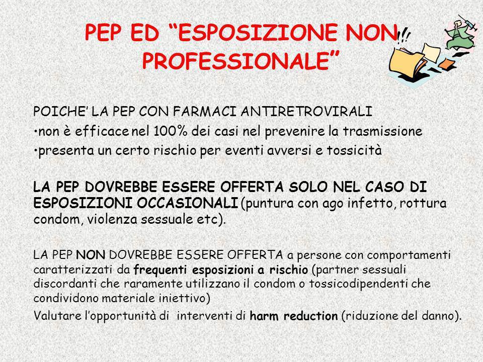 PEP ED ESPOSIZIONE NON PROFESSIONALE