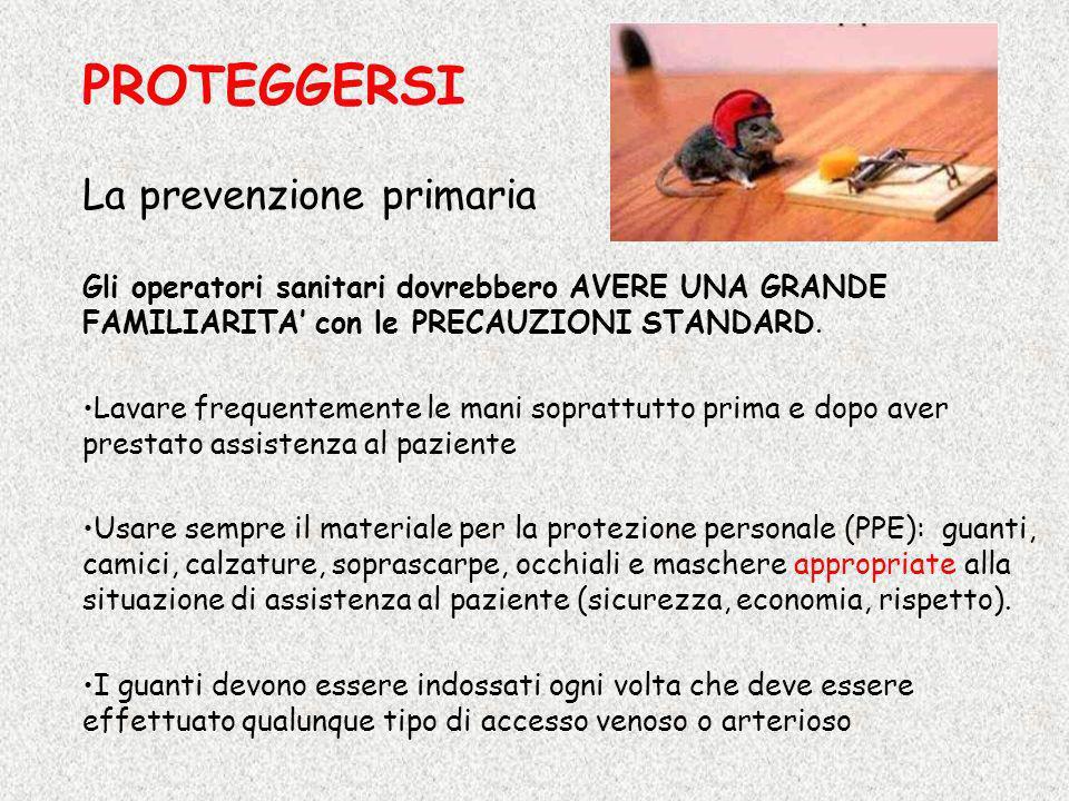 PROTEGGERSI La prevenzione primaria
