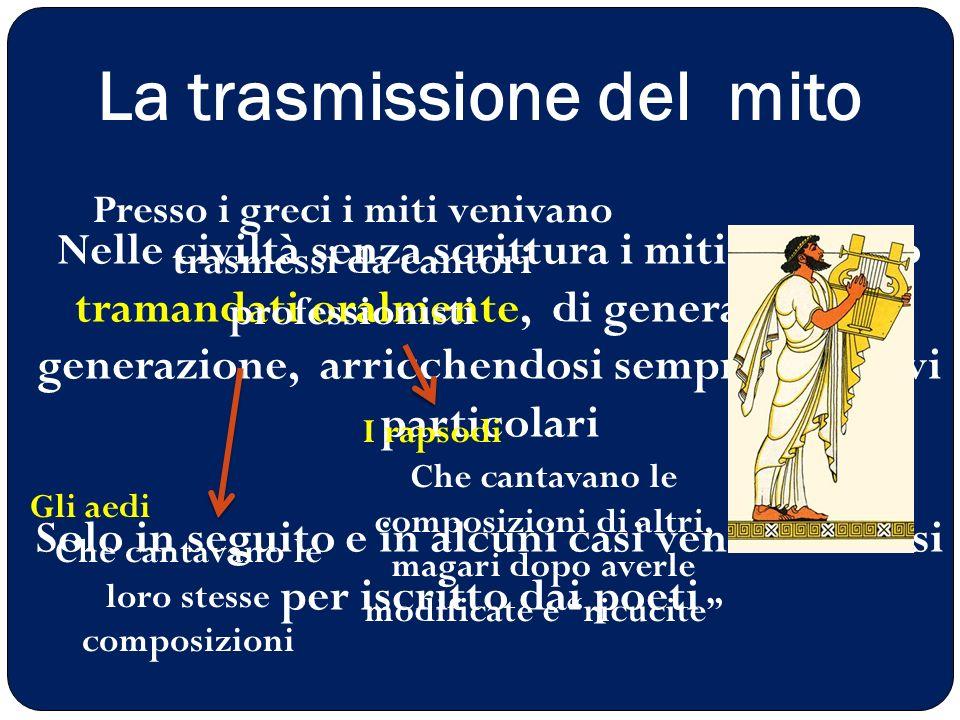 La trasmissione del mito