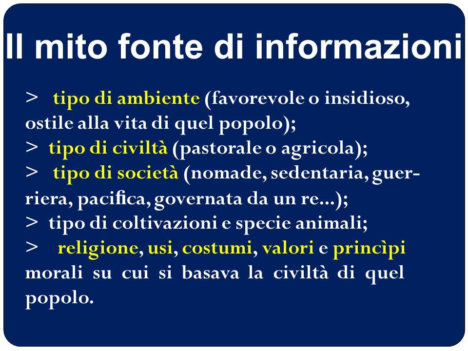 Il mito fonte di informazioni