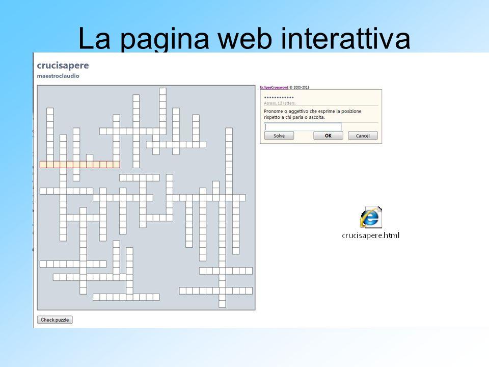 La pagina web interattiva