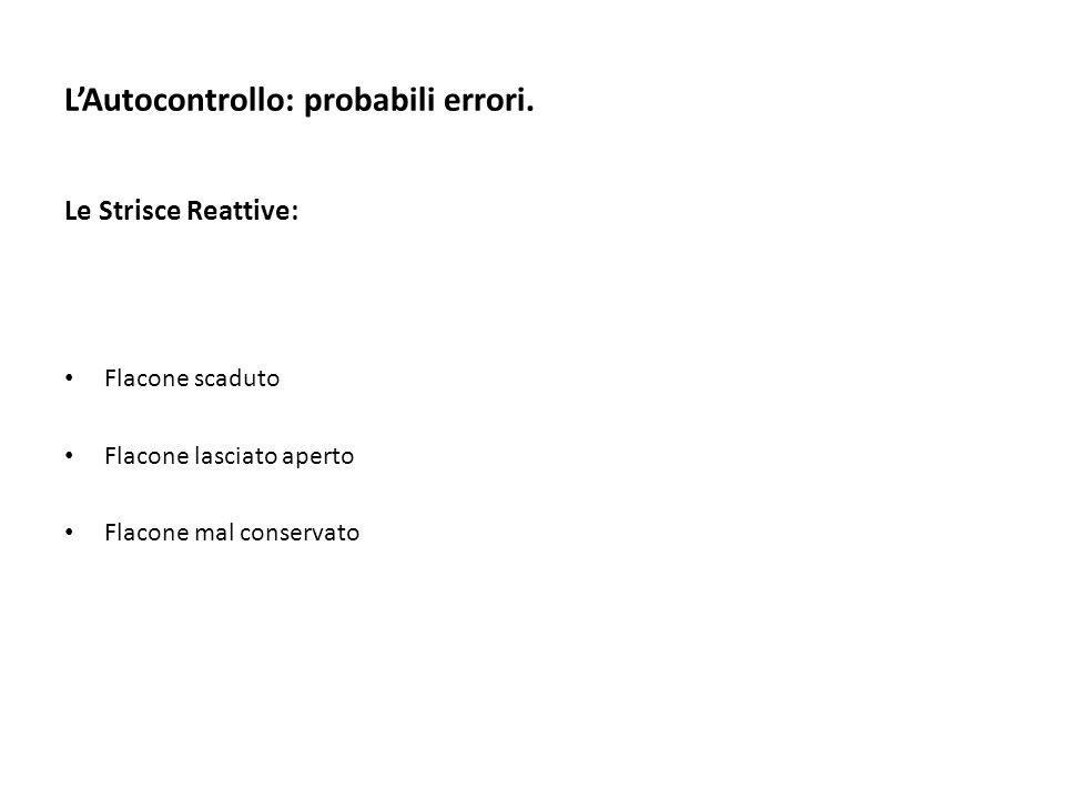 L'Autocontrollo: probabili errori.