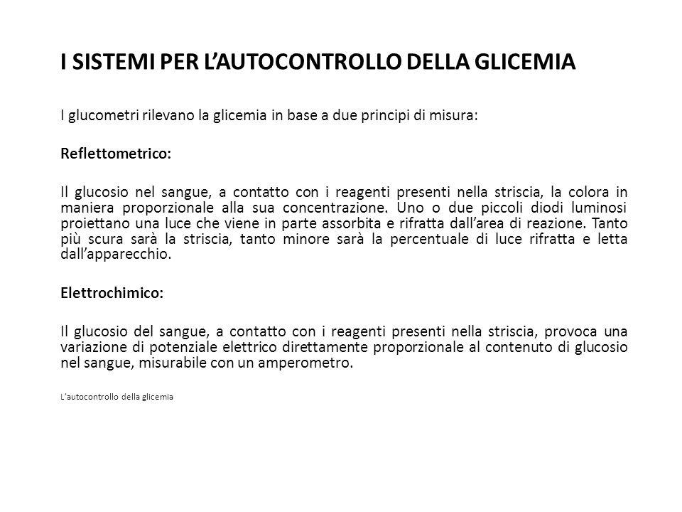 I SISTEMI PER L'AUTOCONTROLLO DELLA GLICEMIA