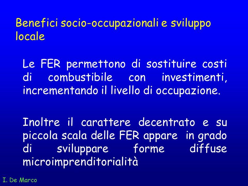Benefici socio-occupazionali e sviluppo locale