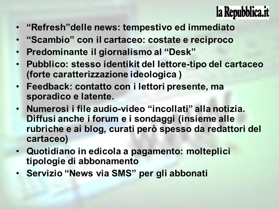 Refresh delle news: tempestivo ed immediato