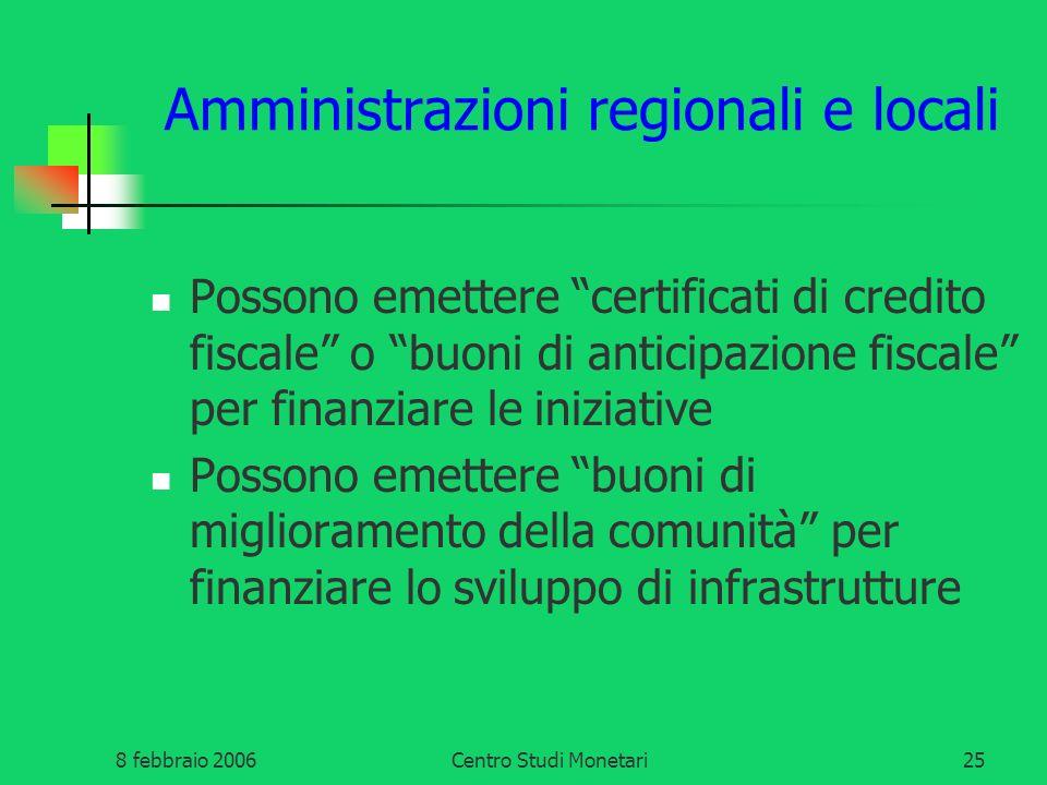 Amministrazioni regionali e locali