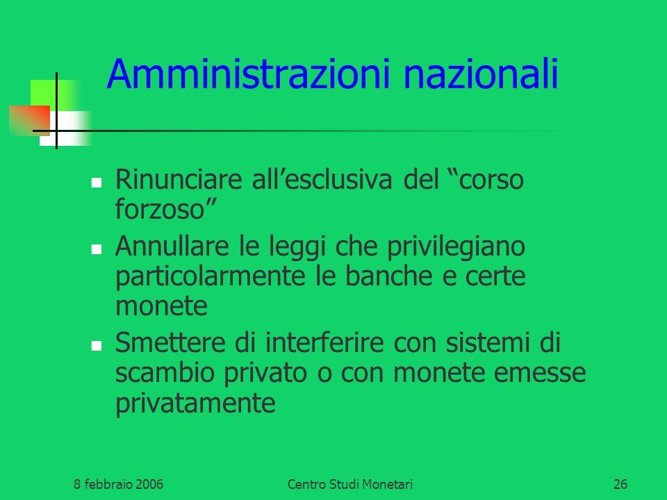 Amministrazioni nazionali