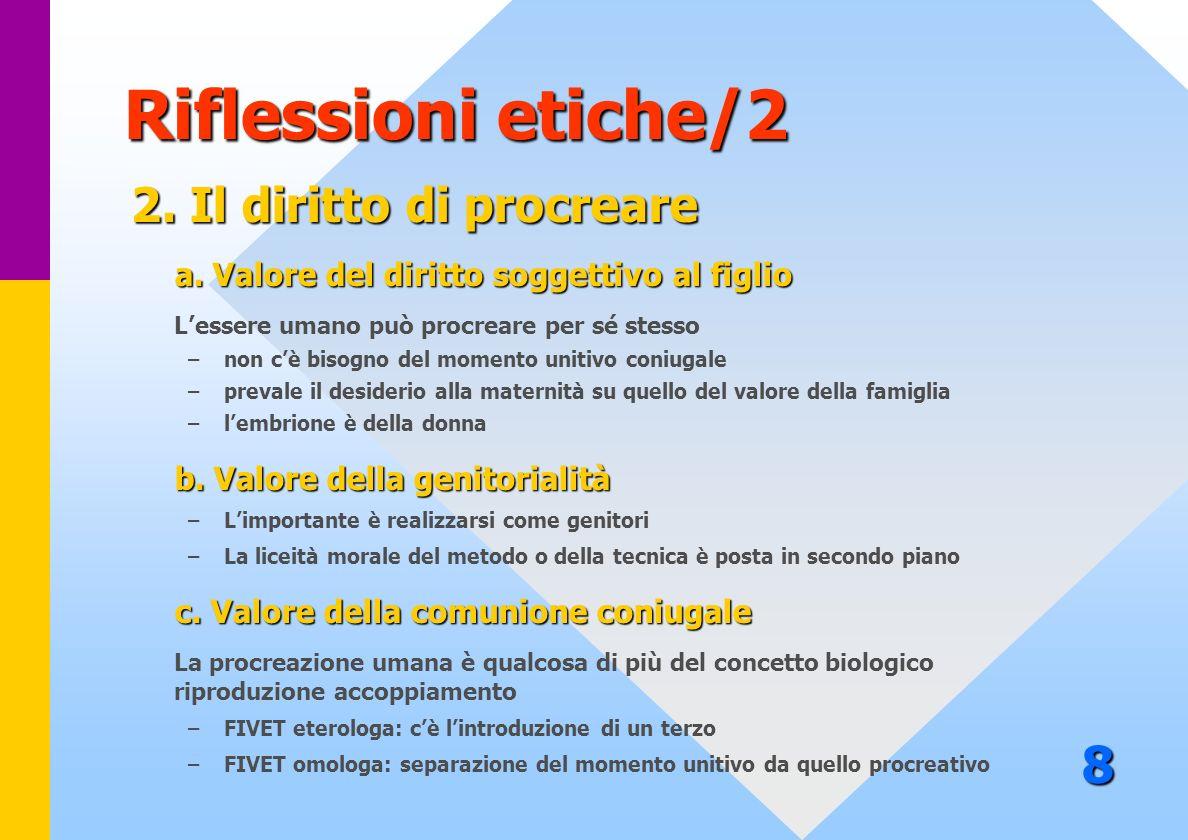 Riflessioni etiche/2 8 2. Il diritto di procreare