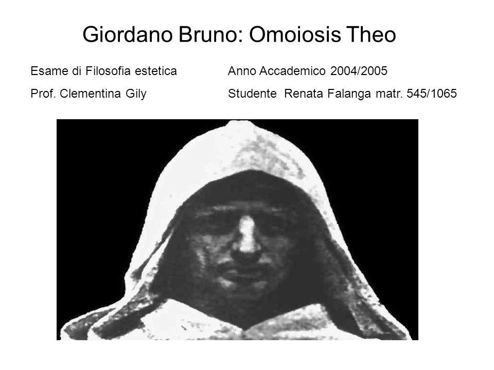 Giordano Bruno: Omoiosis Theo