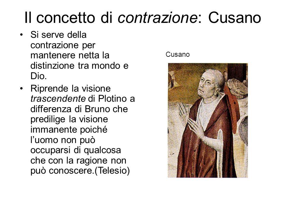 Il concetto di contrazione: Cusano