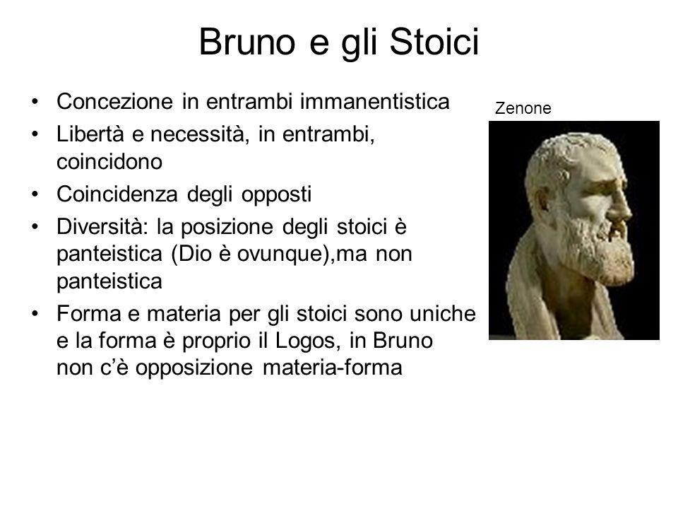 Bruno e gli Stoici Concezione in entrambi immanentistica