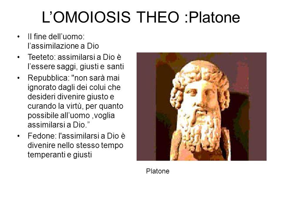L'OMOIOSIS THEO :Platone