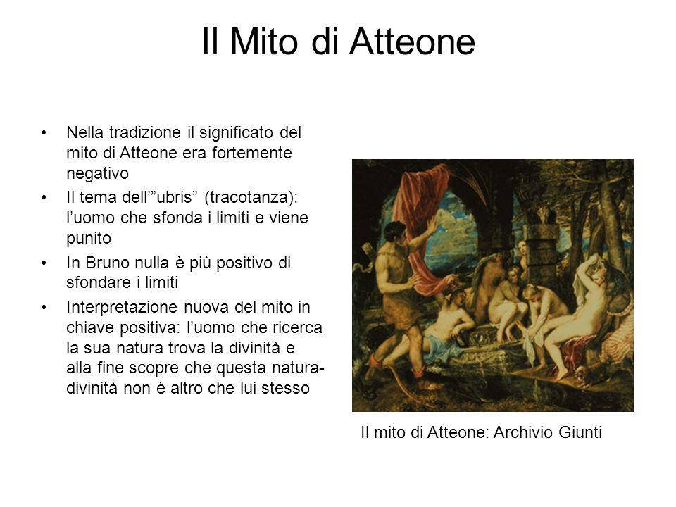 Il Mito di Atteone Nella tradizione il significato del mito di Atteone era fortemente negativo.