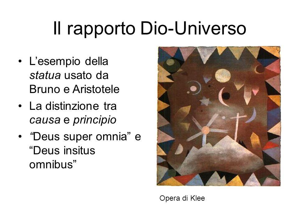 Il rapporto Dio-Universo