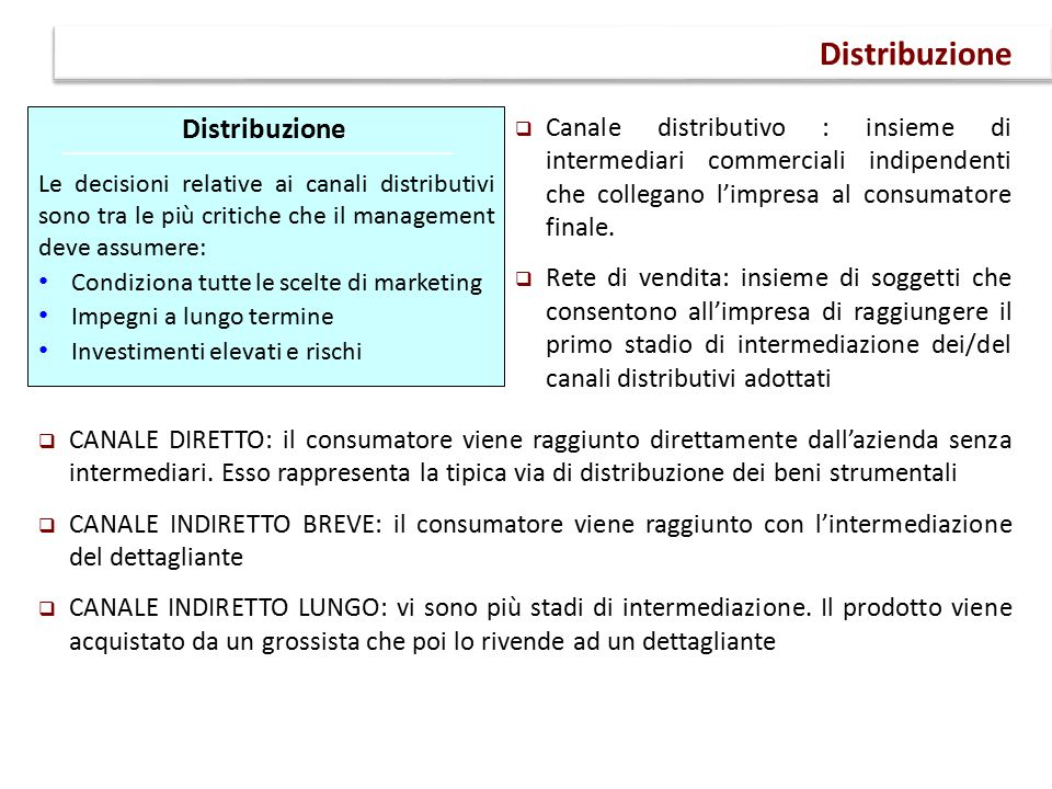Distribuzione Distribuzione