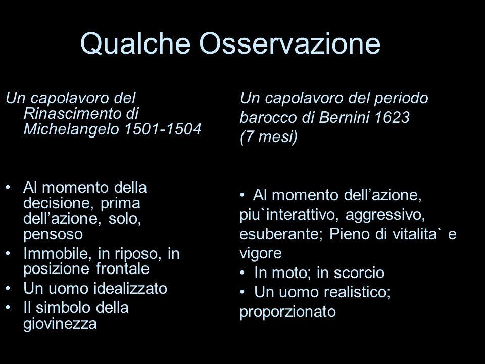Qualche Osservazione Un capolavoro del periodo barocco di Bernini 1623