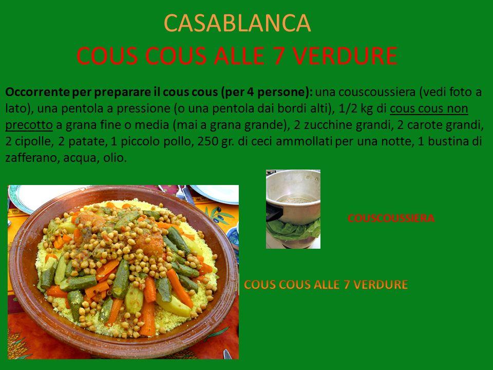 CASABLANCA COUS COUS ALLE 7 VERDURE
