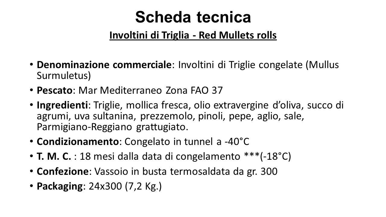 Involtini di Triglia - Red Mullets rolls