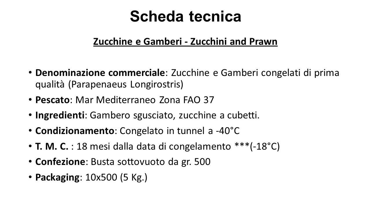 Zucchine e Gamberi - Zucchini and Prawn