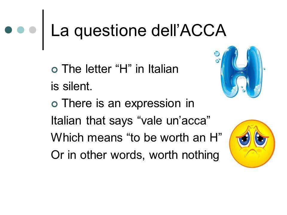 La questione dell'ACCA