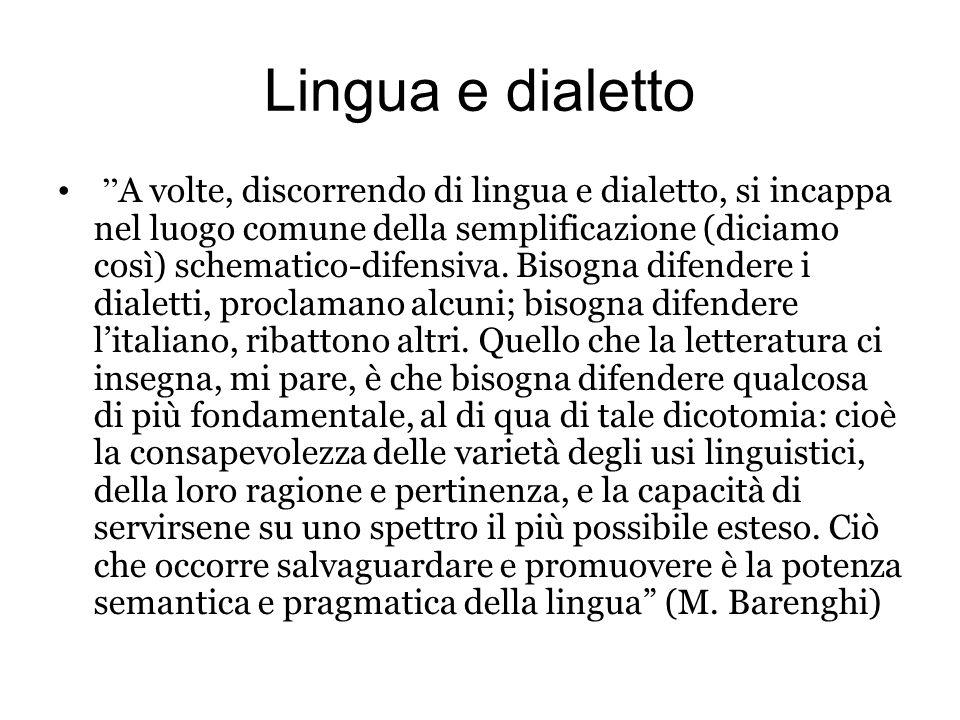 Lingua e dialetto