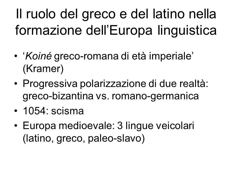 Il ruolo del greco e del latino nella formazione dell'Europa linguistica