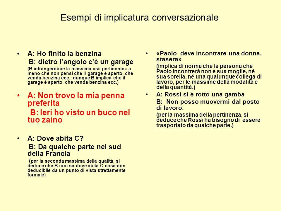 Esempi di implicatura conversazionale