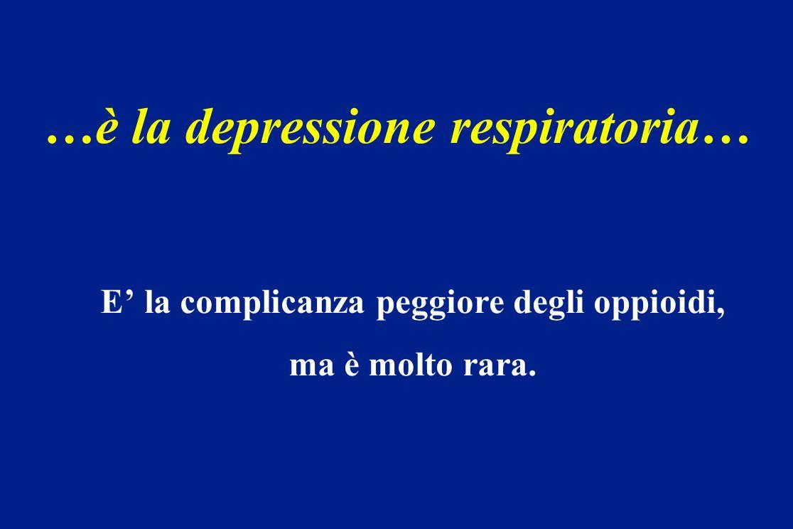 …è la depressione respiratoria…