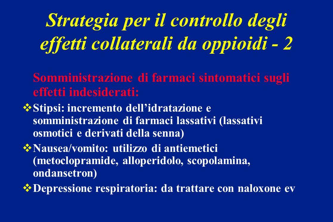 Strategia per il controllo degli effetti collaterali da oppioidi - 2