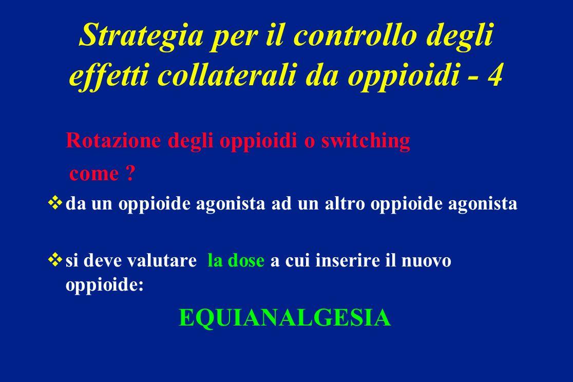 Strategia per il controllo degli effetti collaterali da oppioidi - 4