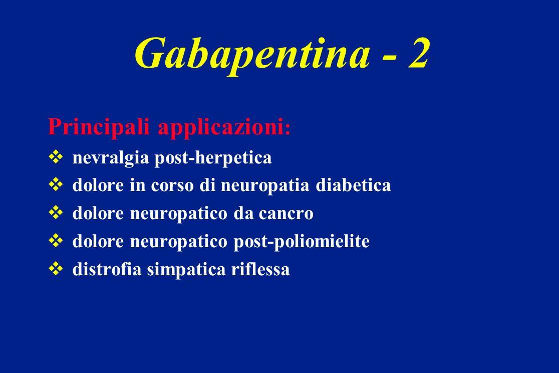 Gabapentina - 2 Principali applicazioni: nevralgia post-herpetica