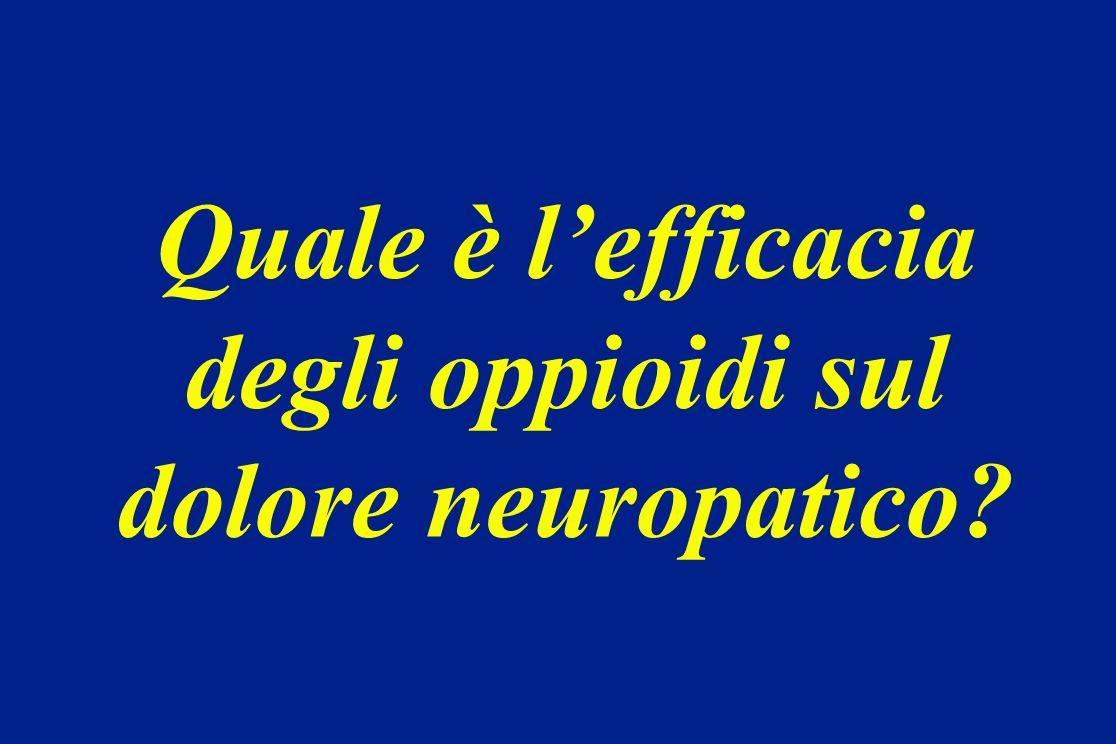 Quale è l'efficacia degli oppioidi sul dolore neuropatico