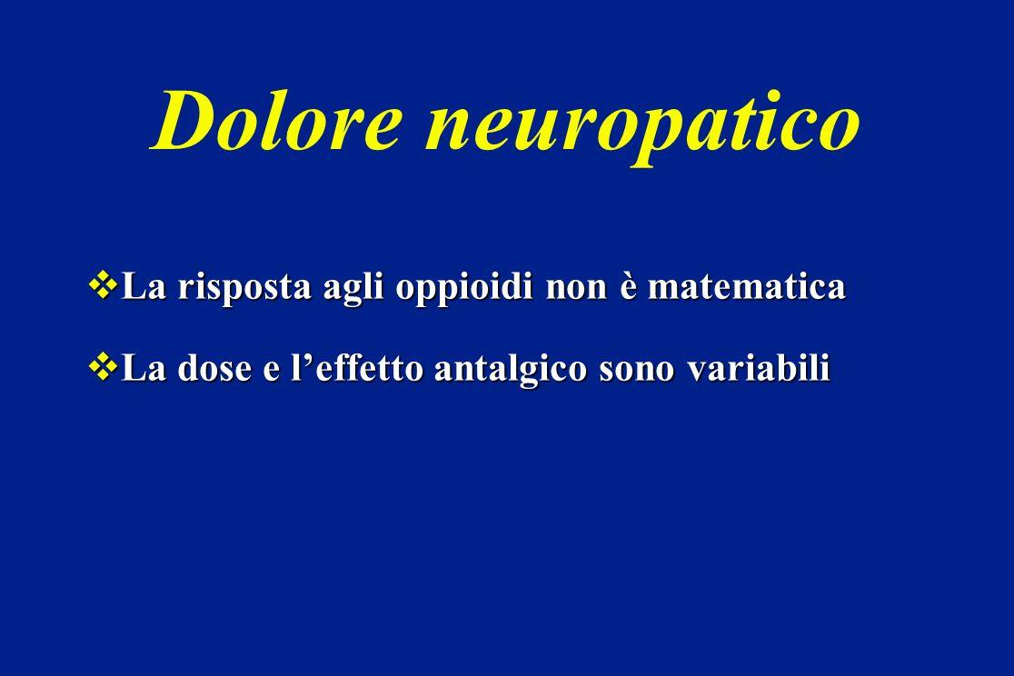 Dolore neuropatico La risposta agli oppioidi non è matematica