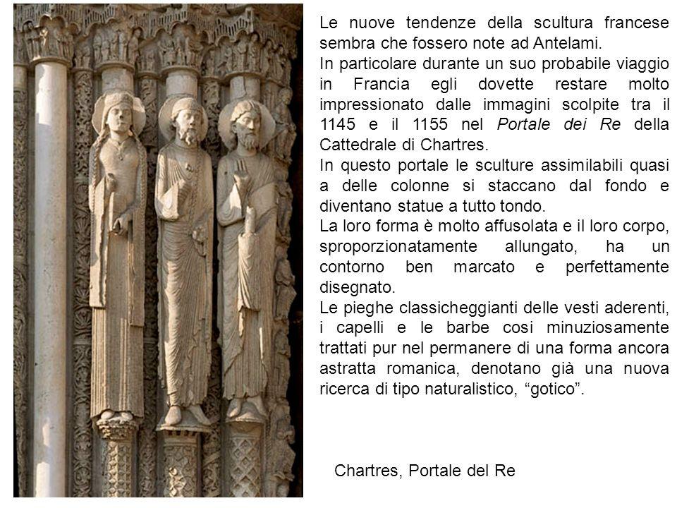Le nuove tendenze della scultura francese sembra che fossero note ad Antelami.
