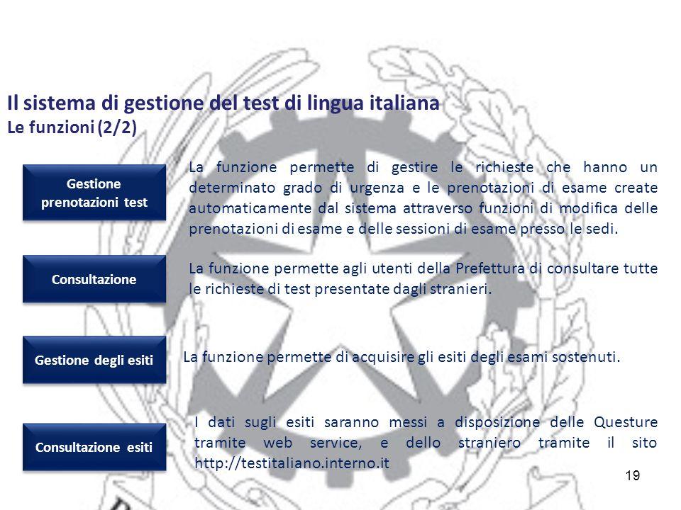 Gestione prenotazioni test