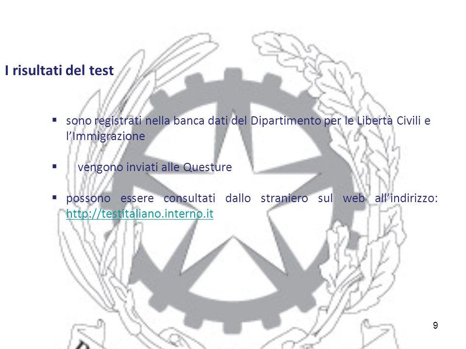 Beautiful risultati test italiano per carta di soggiorno for Test italiano per carta di soggiorno 2016